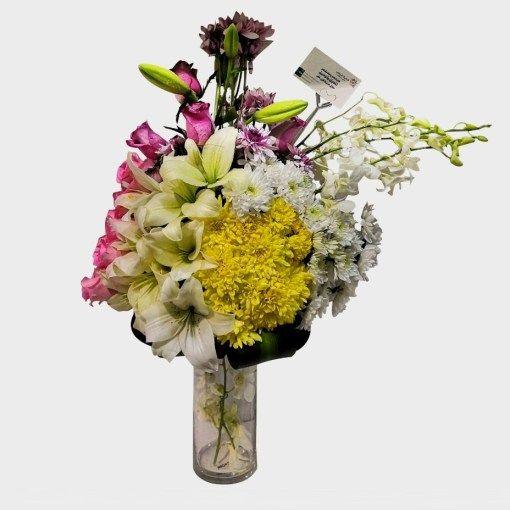 باقة البرج متجر هدية الرياض أفضل محل ورد أونلاين توصيل في نفس اليوم زهور هدايا بالون شوكولا Glass Vase Vase Glass