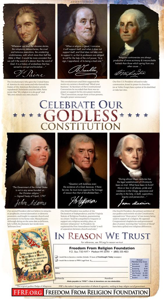 FFRF's July 4 ad counters Hobby Lobby disinformation - Freedom From Religion Foundation