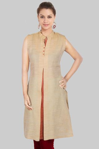 High Neck Collar Buttoned Kurta Kurtis Pinterest