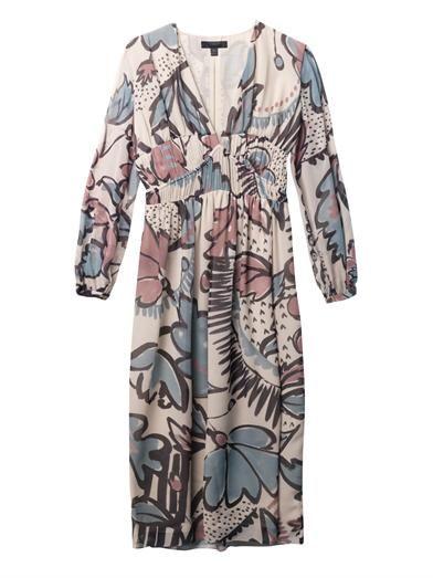 BURBERRY PRORSUM Floral-print silk-georgette dress #TrendReport #PrintsForFall http://shop.melboteri.com/blogs/mel-boteri-blog/15523229-fall-winter-2014-trend-report-beat-the-winter-blues-with-this-unexpected-burst-of-prints #MelsCloset