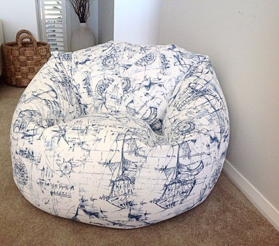 Hey, I found this really awesome Etsy listing at https://www.etsy.com/listing/231365366/nautical-bean-bag-blue-and-white-bean