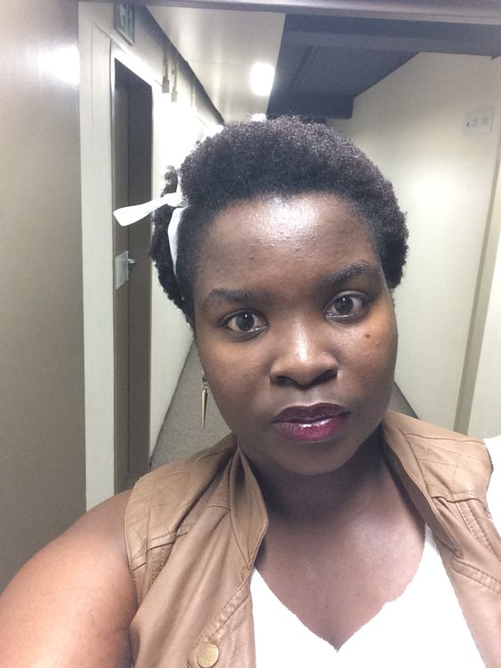 Wen my Afro looks like a TWA after a wash bt its earlobe length... Shrinkage