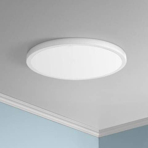 Dweled Geos 15 Wide White Led Ceiling Light Ceiling Lights Led