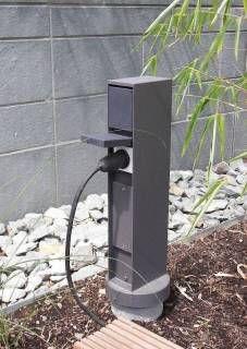 Gartensteckdose Energiesäule