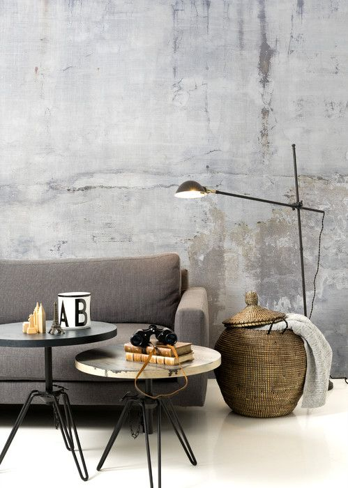 Weathered Concrete Wall Affordable Wall Mural Wallpaper Living Room Accent Wall Concrete Walls Interior Concrete Walls Bedroom
