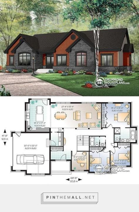 House Plans One Story No Garage Layout 67 Ideas Craftsman House Plans Sims House Design Sims House Plans