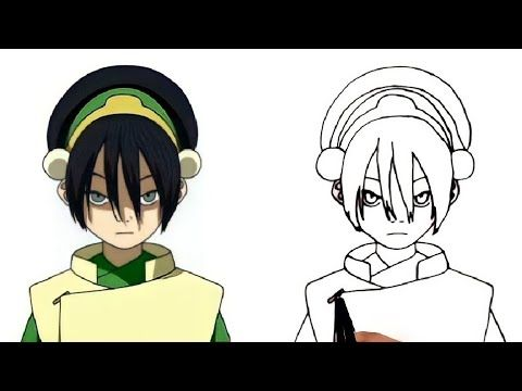 How To Draw Toph From Avatar Step By Step كيف ترسم اللصة العمياء توف مسخرة الأرض من إنمى افاتار Youtube In 2021 Drawings Zelda Characters Character