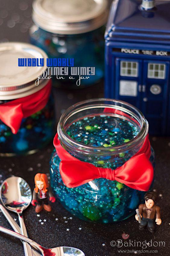 Doctor Who Wibbly Wobbly Timey Wimey Jello in a Jar by Bakingdom
