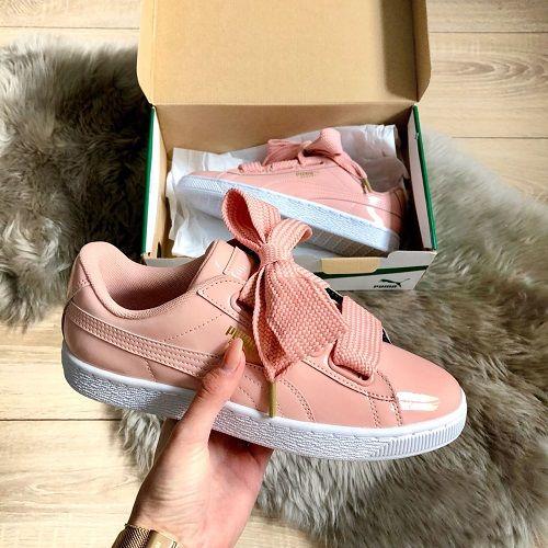 meet d6d14 57d7a Puma Basket Heart Patent – Peach Beige | Cute clothes | Puma ...