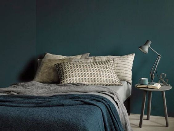 Slaapkamer jongens mooie petrol kleur idee n - Deco chambre jeune adulte ...