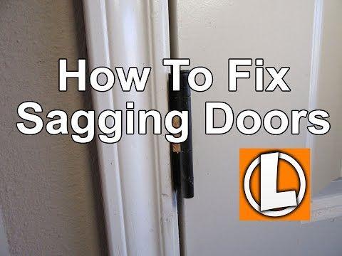 How To Fix Sagging Doors Easily Align And Square Your Doors Using Shims Youtube Sagging Door Door Repair Home Repair