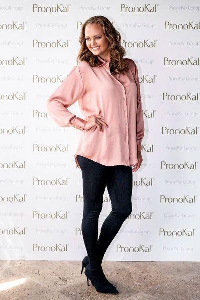 Shaila Durcal posando en el photocall de pronokal