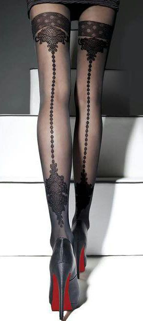 Louboutin & Wolford | The House of Beccaria  http://www.pinterest.com/adisavoiaditrev/