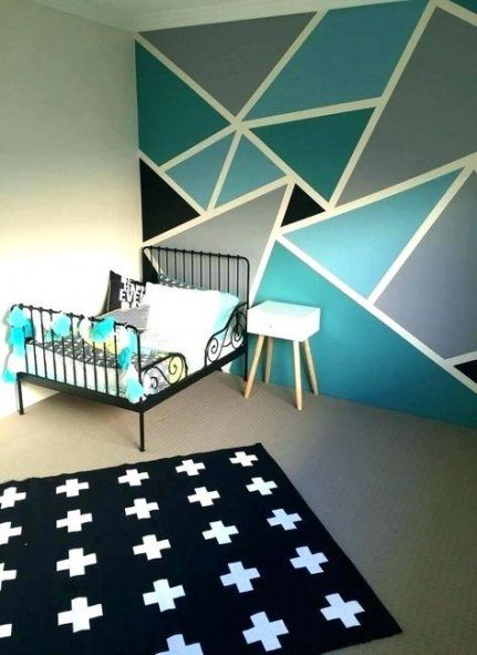 56 Ideas Wall Art Diy Tape Paint Bedroom Paint Design Bedroom Wall Paint Boy Room Paint