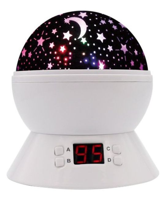 Modern Rotating Moon Sky Projection LED Night Light