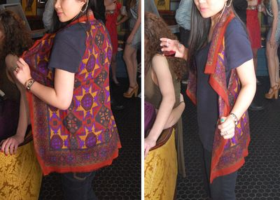 one step scarf vest