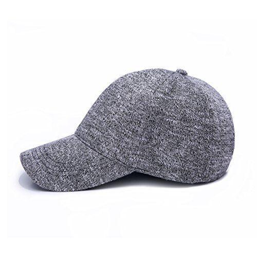 JOOWEN Unisex Knitted Textured Baseball Cap Soft Adjustable Solid Dad Hat for Women Men