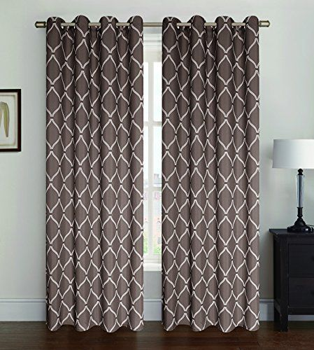 Curtains Ideas 54 curtain panels : 2 Piece Oxford Print Grommet Window Curtain Panels 54