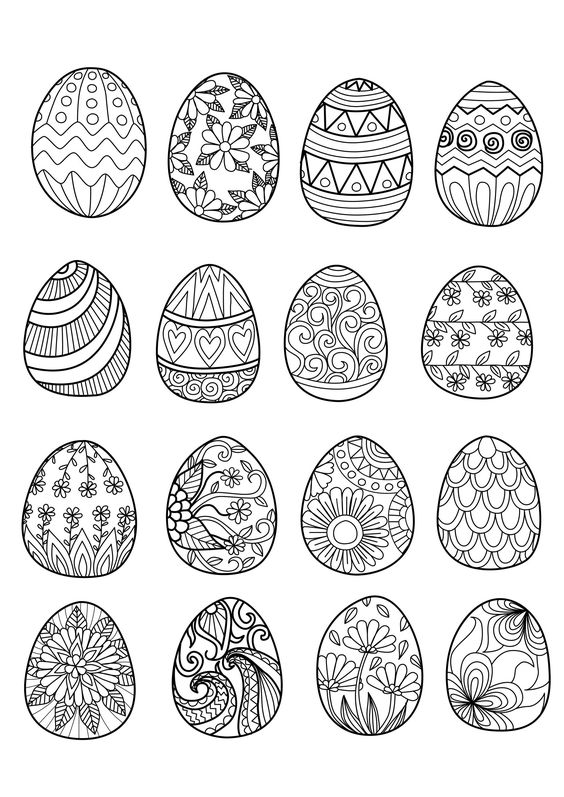 49153947 - easter eggs for coloring book, From the gallery : Events Easter: