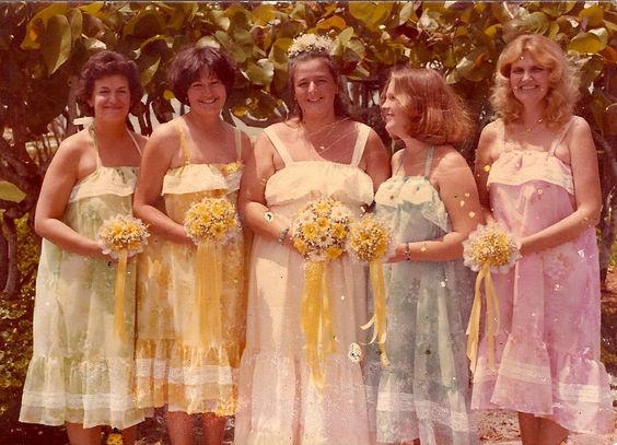 1978 bride with her attendantsVia sjennings on Flickr: