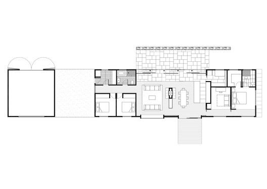 Gallery Of Trentham Long House Mrtn Architects 21 House Floor Plans Long House Narrow House Plans