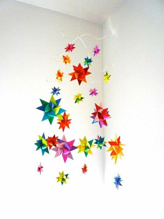 La guirlande origami est une d co chouette pour vos int rieurs origami d c - Guirlande fleurs papier ...