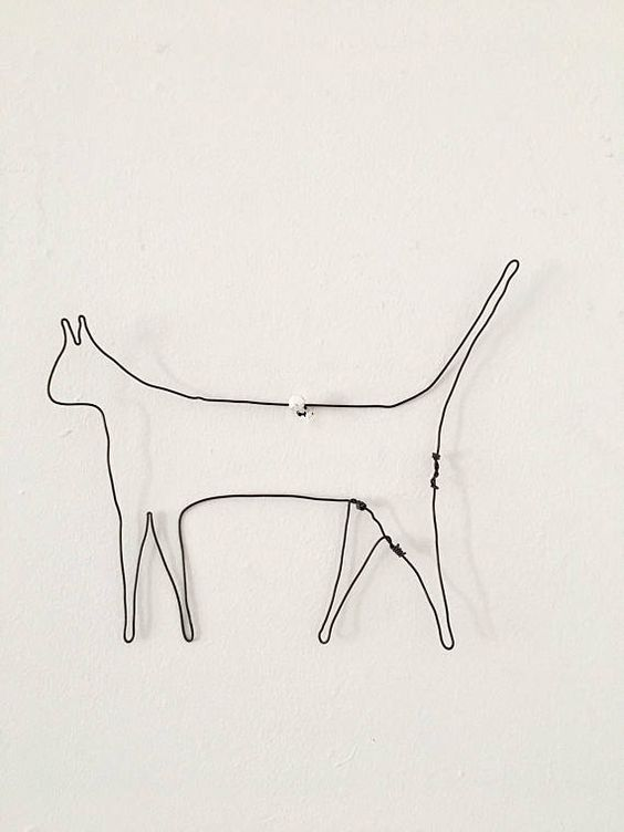 Cat Lover Gift Cat Gifts Cat Art Wire Sculpture Wire Art Wall Decor Wall Art Animal Art Animal Lover Gift H Wire Wall Art Art Wire Art Drawings Simple