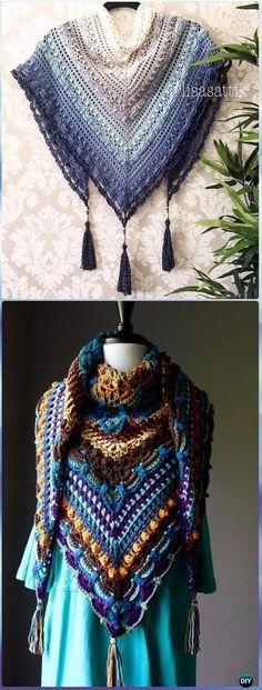 Pin de Dee Maerz en Crochet   Pinterest   Chal, Ganchillo y Tejido