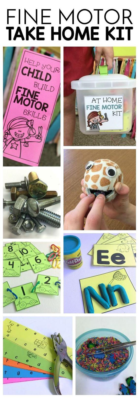 Fine motor home kits preschool activities fine motor for Help build your own home
