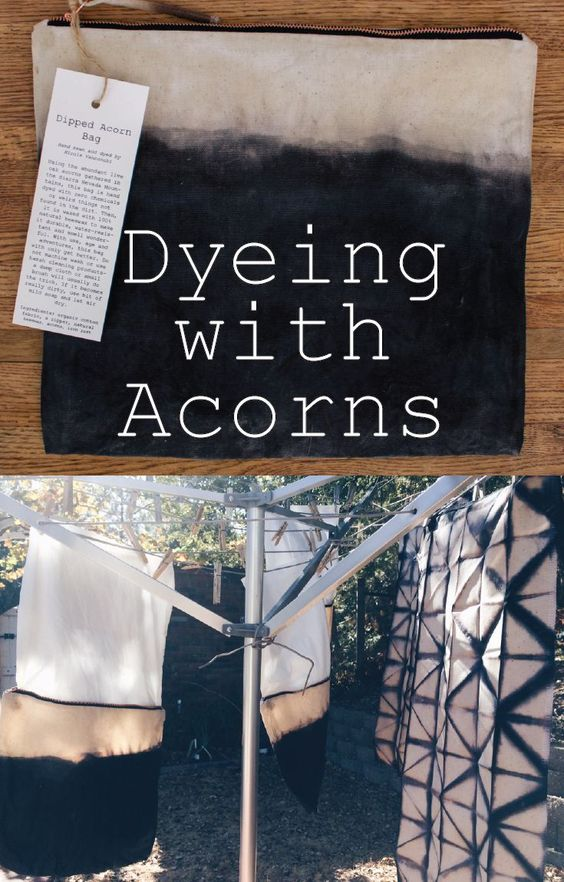 Learn how to dye cotton with a natural foraged acorn dye for The art and craft of natural dyeing