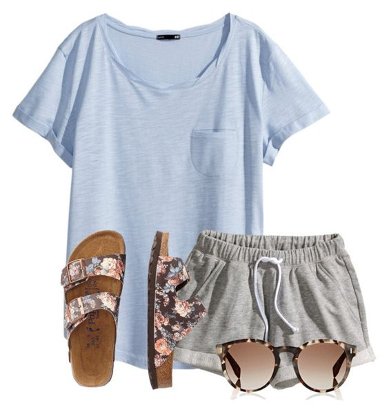 """""""These are like my favorite shorts right now"""" by flroasburn ❤ liked on Polyvore featuring H&M, TravelSmith and Fendi"""