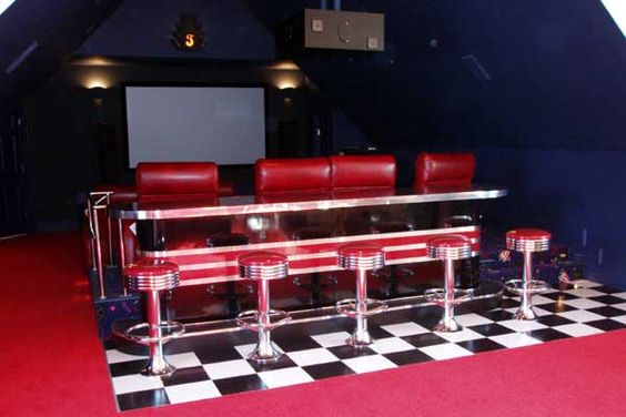 Steve's Home Theater Room : Retro, Vintage, Custom