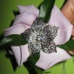 Prom corsage with brooch: Rose, Fabulous Flowers, Prom Corsage, Prom Flowers, Composite Bracelet, Corsage Flowers