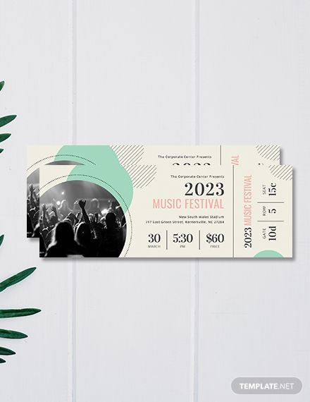 Printable Concert Ticket Template Free Jpg Illustrator Word Apple Pages Psd Pdf Publisher Template Net Ticket Design Ticket Template Free Concert Ticket Template