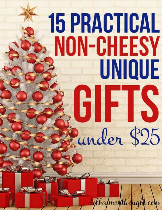 15 Unique Non-Cheesy Gifts Under $25..cool list with a border-less puzzle, waterproof shower notes, and reusable sandwich bags