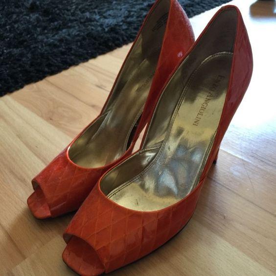 ORANGE HEELS Size 7 Shoes Heels
