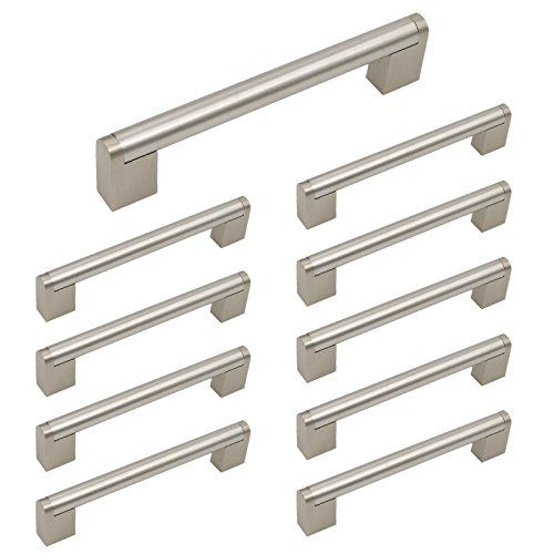 Homidy Kitchen Cabinet Door Handles Brushed Nickel 128mm 5 Inch Hole Centers Mode Cabinet Door Handles Cabinet Hardware Brushed Nickel Kitchen Cabinet Handles
