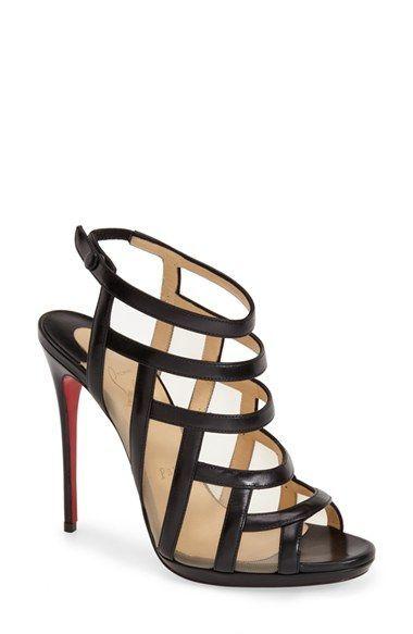 Black sandal,red heel