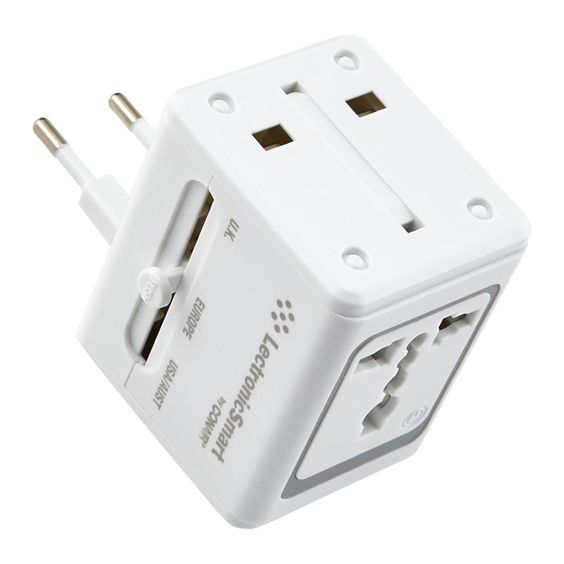 New! All-in-One Adapter w/ USB White | $39.99