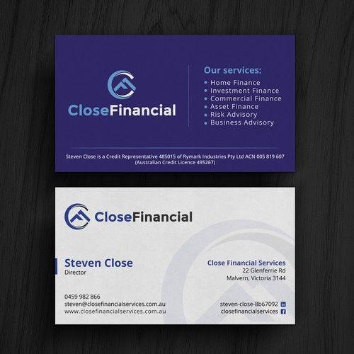 Finance Business Card Business Card Contest Design Business Card Stevenclose Business Design Business Finance Finance