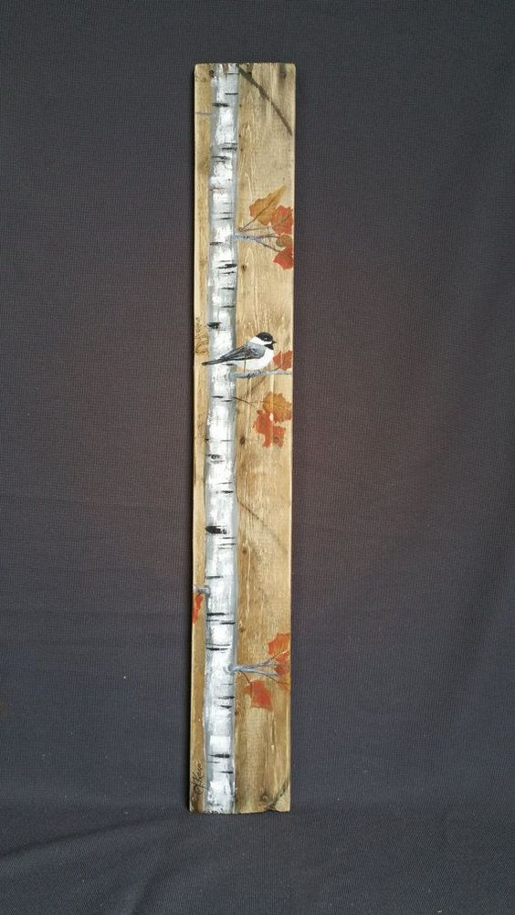 Fall reclaimed wood pallet art tall handpainted white for White painted pallets