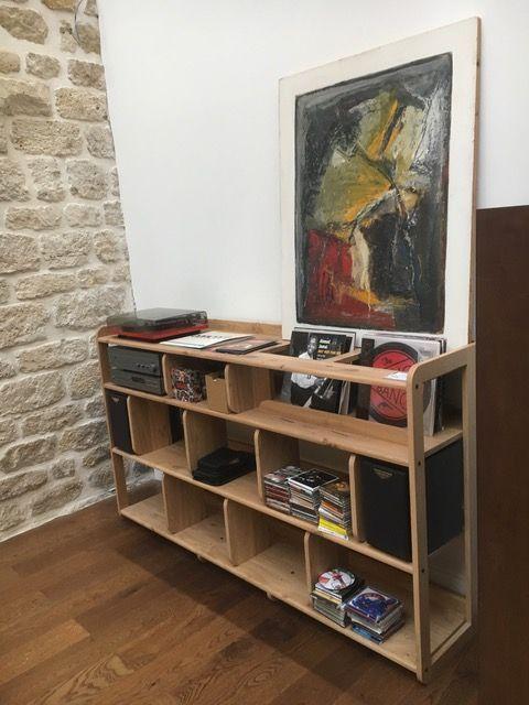 Meuble Vinyle Portee Design Et Adaptable Made In France Meuble Vinyle Meuble Dj Vinyle