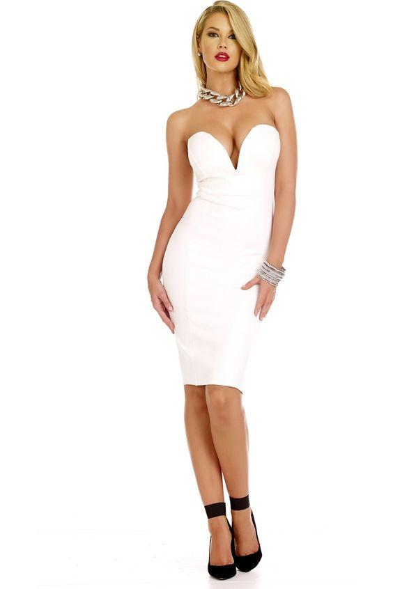White Tube Dress Photo Album - Reikian