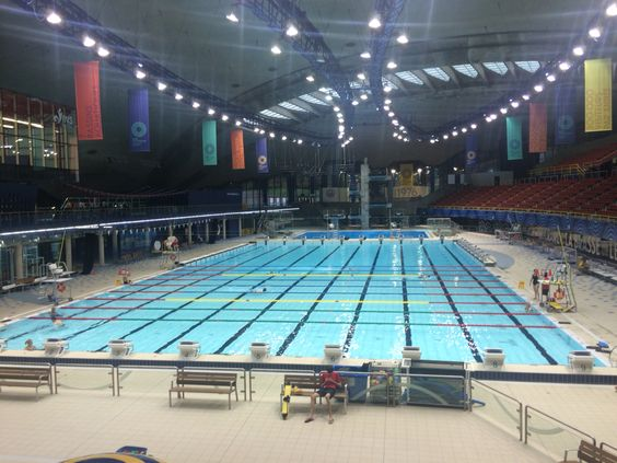 The Olympic Swimming Pool In The Stadium Complex Friday 9 October 2015 Olympic Swimming Usa Holidays New York Tours