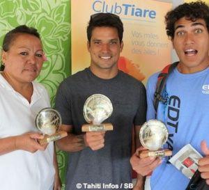 Tahiti Infos ATN Challenger : Michel Bourez, Rete Ebb et Anne Caroline Graffe, sportifs préférés des polynésiens.