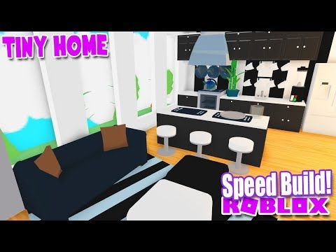 Tiny Living Home Speed Build Black White Adopt Me Roblox Youtube Cute Room Ideas Tiny Living Adoption