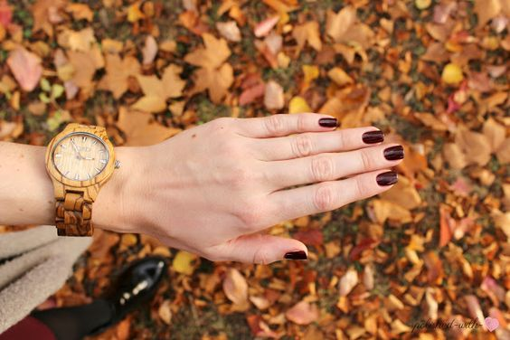 Jord Wood watch meets Essie Shearling Darling: