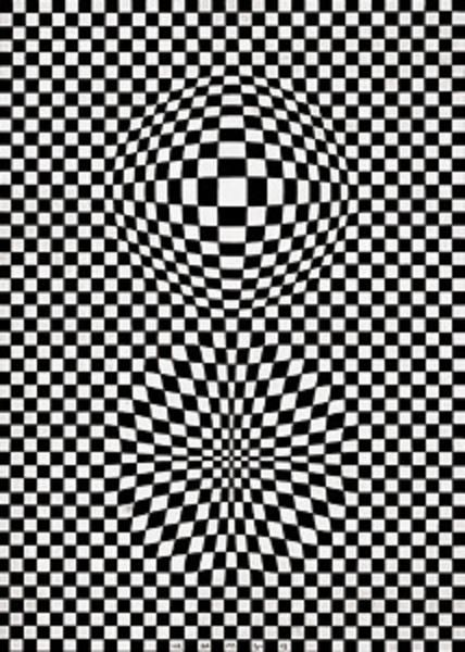 Eye Reflection Black And White Victor Vasarely - Vega...