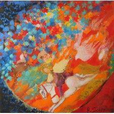 Del caballito nazarí #arte #contemporaneo #elche #art #paintings #antoniasoler #contemporaryart #horse http://antoniasoler.com/del-caballito-nazari