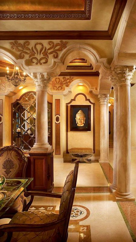 Style design and mansions on pinterest for Tuscan dining room wall art